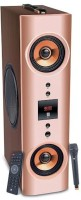 Iball Karaoke Booster Tower Portable Bluetooth Tower Speaker(Brown, 2.1 Channel)