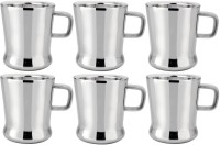 RISHI METAL RISHI Metal Stainless Steel Cup Mug for Tea & Coffee (RISHI) - Set of 6 - 100ml Steel(Steel, Pack of 6)