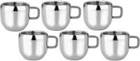 RISHI METAL Stainless Steel Cup Mug for Tea & Coffee Set of 6 - 80ml Steel(Steel, Pack of 6)