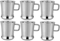 RISHI METAL Stainless Steel Cup Mug for Tea & Coffee Set of 6 - 85ml Steel(Steel, Pack of 6)
