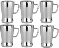 RISHI METAL RISHI Metal Stainless Steel Cup Mug for Tea & Coffee (Premier deluxe) - Set of 6 - 85ml Steel(Steel, Pack of 6)
