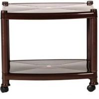 Pranay Plastic Coffee Table(Finish Color - Deep Brown)