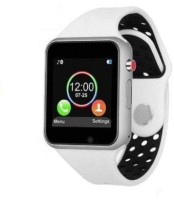 Bluebells India Smartwatch Touch Screen Phone Unlocked Smartwatch(White, Black Strap, Free Size)