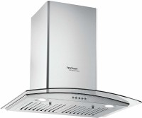 Hindware 60 cm 1100 m³ HR Curved Glass Kitchen Chimney JKL20145 Auto Clean Wall Mounted Chimney(Silver 1100 CMH)