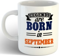iKraft Legends are Born in September Coffee Cup Birthday Gift Ceramic Mug(325 ml)