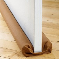 kalathiyasales Door Twin Draft Guard Cover Stop Light Dust Cool Air Escape Protector , 85 cm, Multicolour Floor Mounted Door Stopper(Brown)