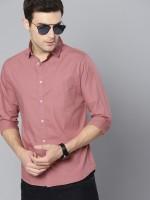 Dennis Lingo Men Solid Casual Orange Shirt