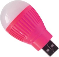 Lehza Mini White LED Night Light Bulb for Laptop PC 16651+019 Led Light, Laptop Accessory(Pink)