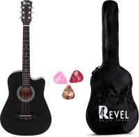 REVEL RVL-38C-LGP-BK Linden Wood Acoustic Guitar(Black)
