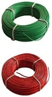 D'mak KC-Cab PVC Insulated Wire 1.0 SQ/MM Single Core Flexible Copper Wires for Electric Wire 90 Mtr Coil |( Pack of-2) 1 sq/mm Red, Green 90 m Wire(red, green)