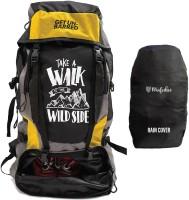 Get Un-Barred Adventure Stylish Series Water Resistance Trekking Hiking Travel Bag Rucksack  - 55 L(Yellow, Black)