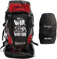 Get Un-Barred Adventure Stylish Water Resistance Rucksack  - 65 L(Red, Black)