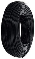 D'mak PVC Insulated Wire 4.0 SQ/MM Single Core Flexible Copper Cables for Domestic/Industrial Electric 4 sq/mm Black 90 m Wire(black)