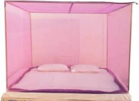 Anagya Polyester Adults Best Very Soft Washable (7 ft * 7 ft) Mosquito Net(Pink)