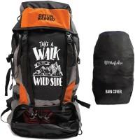 Get Un-Barred Adventure Stylish Series Water Resistance Trekking Hiking Travel Bag Rucksack  - 55 L(Orange, Black)