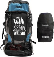 Get Un-Barred High Quality Water Resistance Trekking Hiking Travel Bag With Shoe Compartment Rucksack  - 55 L(Black)