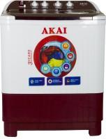 Akai 8.5 kg Semi Automatic Top Load White, Maroon(AKSW-8501RD)