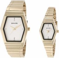 Sonata 70838074YM01 Fiber Analog Watch For Couple