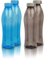 Flipkart SmartBuy Classic Fridge Bottle - 1000ml - Plastic(Pack of 4, Blue, Grey)