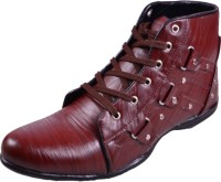 Fashion World long shoes Party Wear For Men(Brown)
