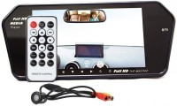 Auto Snap 7 Inch LED screen video monitor with USB, Bluetooth and Car Rearview Camera (Black, 18cm) Black LED(17.78 cm)