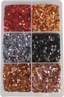 estore Sequins Sitara, 150 gm Box,for Jewellery Making Embroidery Material Art and Craft DIY kit, Glitter Sequince Rhinestones Beads (2)