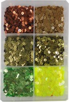 estore Multi Color Sequins Sitara, 100 gm Box,for Jewellery Making Necklace Bracelet Earring Embroidery Material Art and Craft DIY kit, Glitter Sequince Rhinestones Beads (2)