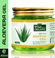 Indus Valley Bio Organic 100% Pure Aloe Vera Gel For Young and Radiant Skin and Hair(400 ml)