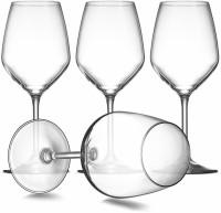 AVORA (Pack of 4) Red Wine 450 ml Glass Set, Non lead Crystal Viola Wine Flute Glass Set Glass Set(450 ml, Glass)