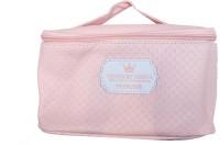 Mumuso Embossed Box Type Makeup bag - Light Pink