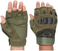 FabSeasons Bike Gloves for Riding, Mountain Bike Half Finger Anti slip Gloves Riding Gloves(Green)