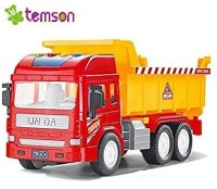 TEMSON Unbreakable Plastic Powered Construction Truck For Kids (5415)(Multicolor)