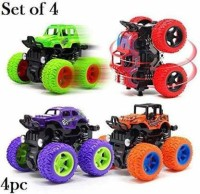 Johnnie Boy Friction Powered Monster Rock Cars Unbreakable With Big Rubber Tires(Multicolor)