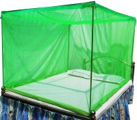 Anagya Polyester Adults Very Soft washable mosquito net 7*7ft -Green Mosquito Net(Green)
