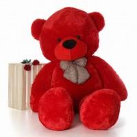 Tedstree 3 feet love teddy bear / hug able / anniversary gift teddy bear soft  - 90.4 cm(Red)