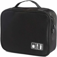 House of Quirk Electronics Accessories Organizer Bag Travel Toiletry Kit(Black)