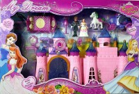 Happy GiftMart Big Size Castle Doll House with Music Light and Accessories(Multicolor)