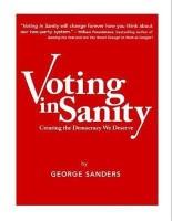 Voting in Sanity(English, Paperback, Sanders George)