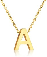 The Dance Bible The Dance Bible 'A' Gold Color Letter Name Initial Charms Necklace Pendant | Personalized Gifts | Fashion Jewelry for Women and Girls Gold-plated Alloy Pendant