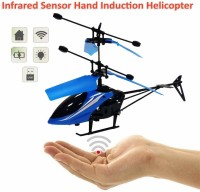 BEST Hand Induction Control Flying Helicopter Toy(Blue)
