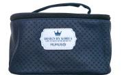 Mumuso Embossed Box Type Makeup Box - Dark Blue