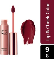 Lakme 9 to 5 Weightless Mousse Lip & Cheek Color(Rosy Plum, 9 g)