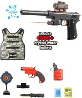 Bestie Toys Pubg Battle Ground Gun Set With Bullet Proof Jacket For Kids Guns & Darts(Multicolor)