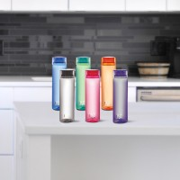 cello H2O 1000 ml Bottle(Pack of 6, Red, Green, Blue, Pink, Orange, Grey, Plastic)