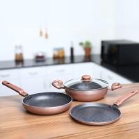 Prestige Omega Festival Pack - Build Your Kitchen Induction Bottom Cookware Set(Aluminium, 3 - Piece)