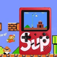 Rewy LCD Screen Handheld Sup Video Game 1 GB with All Old Games Included(Multicolor)