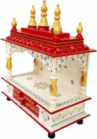 monika art Solid Wood Home Temple(Height: 45, Pre-assembled)
