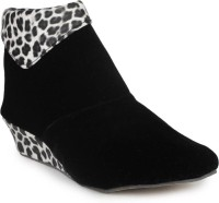 Aloha Rag Ankle Length Boots For Women(Black)