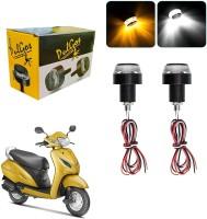 NIKROKZ Side LED Indicator Light for Honda Universal For Bike(White)