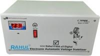 rahul V-666 a3 Digital 3 KVA/12 Amp 100-280 Volt 5 Step Mainline Use Up to 3 KVA Load Digital Automatic Voltage Stabilizer(White)